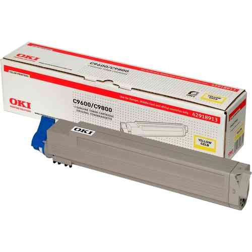 Toner Color Yellow OKI C9600-C9800-C9650-C9850-C9800MFP-C9850MFP - 15.000 páginas aprox.