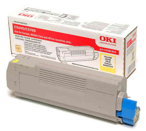 Toner Color Amarillo OKI C5600, C5700 - 2.000 páginas aprox.
