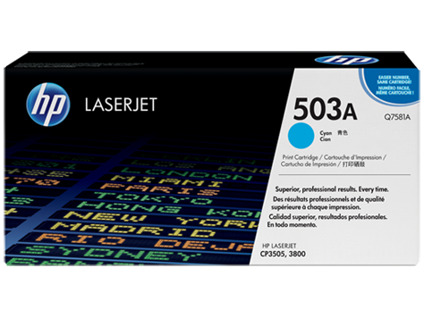 503A Toner Color Cyan HP Laserjet 3800 / CP3505