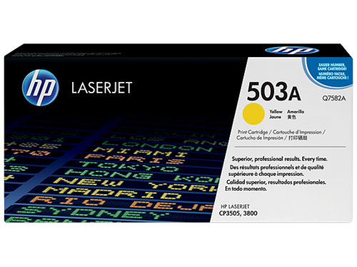 503A Toner Color Amarillo HP Laserjet 3800 / CP3505