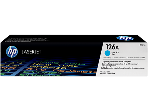 126A Toner Color Cyan HP Laserjet CP1025, 1.000 páginas