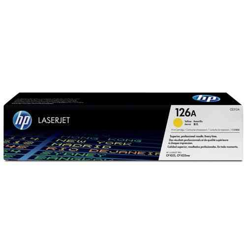 126A Toner Color Amarillo HP Laserjet CP1025