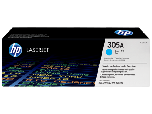 305A Toner Color Cyan HP Laserjet M351-M375-M451-M475, 2.600 copias