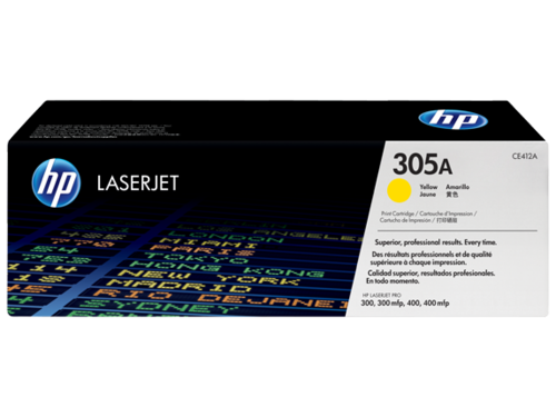 305A Toner Color Amarillo HP Laserjet M351-M375-M451-M475, 2.600 copias