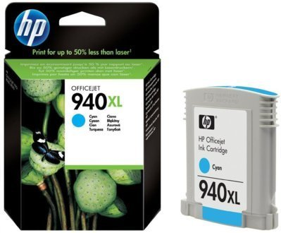 940XL Tinta Color Cyan HP Officejet  8000-8500 ( 1.400 Paginas )