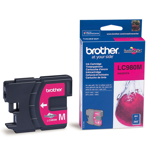 Cartucho de tinta magenta BROTHER DCP-145, 165, 195, 375  - MFC-J250, J255, J290, J295