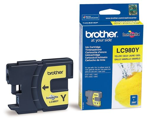 Cartucho de tinta yellow BROTHER DCP-145, 165, 195, 375  - MFC-J250, J255, J290, J295