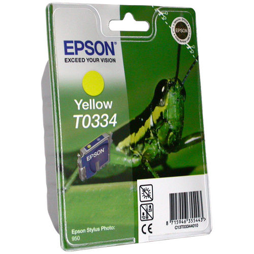 T0334 Cartucho de Tinta EPSON STYLUS PHOTO 950 AMARILLO