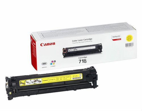 Toner Color Yellow Canon Nº 718Y LBP-7200, 7660, 7680, MF-8330, 8340, 8350, 8360, 8380  (2.900 Pag