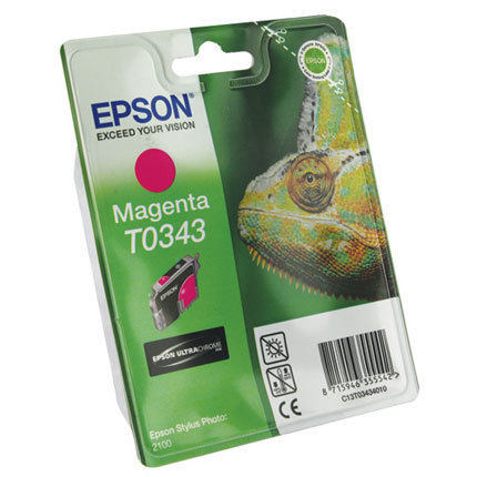T0343 Cartucho de Tinta EPSON STYLUS PHOTO 2100 MAGENTA