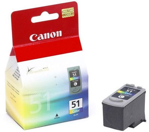 51 - Cartucho de Tinta CANON IP2200, 6210D, 6220D, MP150, 170, 450 COLOR, 330 Páginas