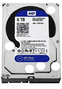 "Disco Duro Interno W.D. 3,5"" Sata 6Tb. Blue"