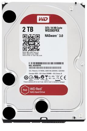 "Disco Duro Interno W.D. 3,5"" Sata 2Tb. NAS RED"