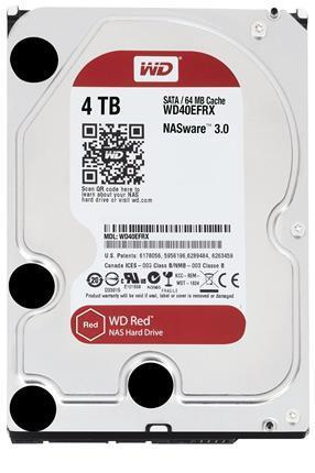"Disco Duro Interno W.D. 3,5"" Sata 4Tb. NAS RED"