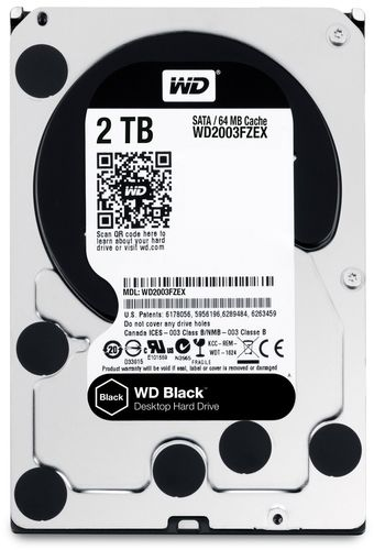 "Disco Duro Interno W.D. 3,5"" Sata 2Tb. BLACK"