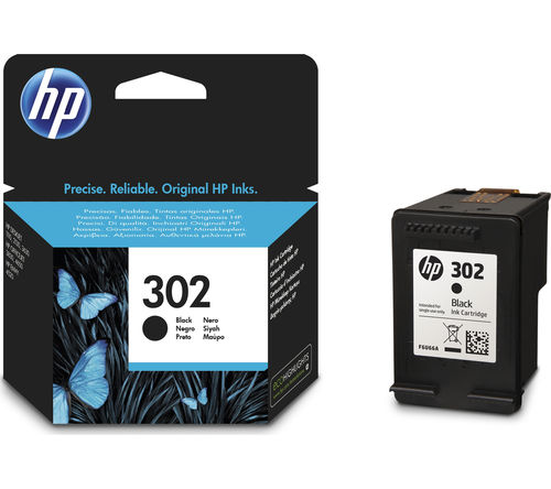 302 Tinta Negra HP Deskjet 1110, 2130, 3630, Officejet 3830, 4650, Envy 4520