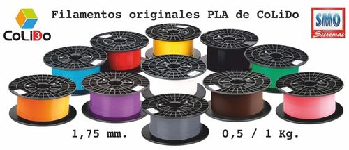 3D-GOLD FILAMENTO PLA 1.75MM 1KG AMARILLO