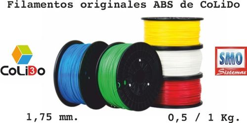 3D-GOLD FILAMENTO ABS 1.75MM 0.5KG ROJO
