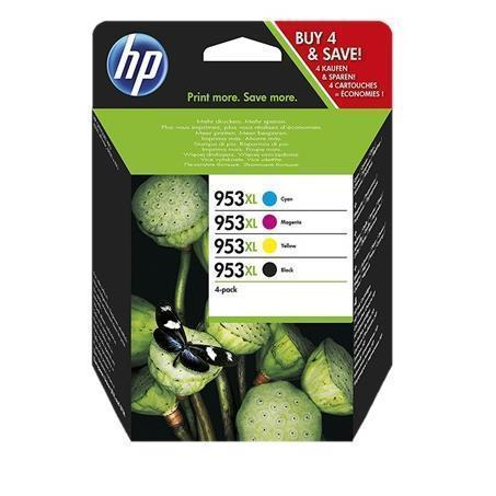 953XL Tintas 4 Multipack Negro+C+M+Y HP Officejet 7740-8210-8218-8710-8715-8718-8719-8720-8730-8740