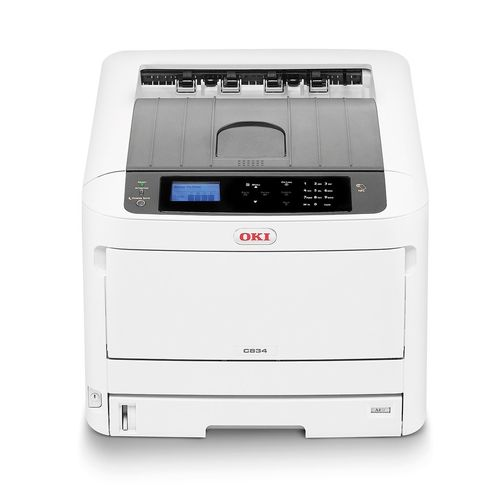 Impresora Láser Color OKI C834NW, DIN A3, RED y WiFi